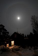 Halo runt månen