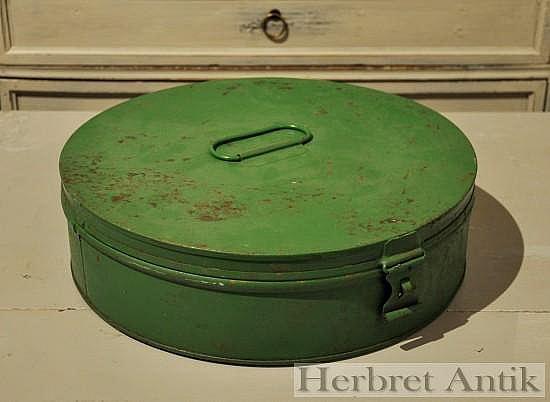 Grön tårtburk