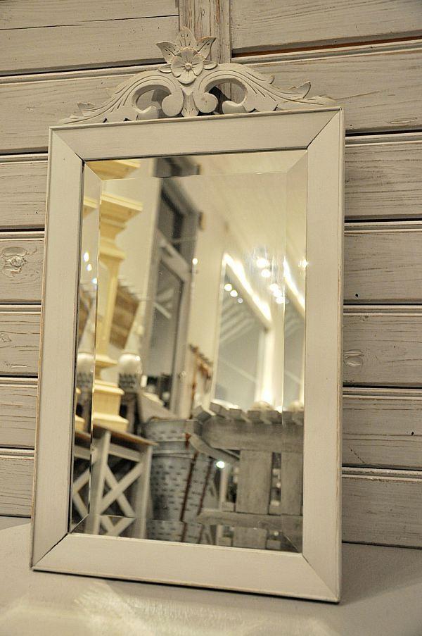 1085 Spegel med krön och fasettslipat glas