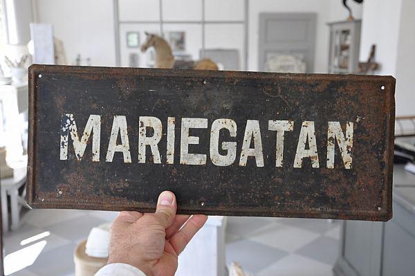 "1197 Plåtskylt ""MARIEGATAN"""