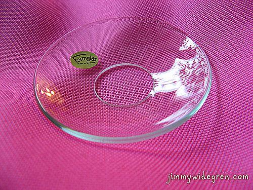 1020 Glasmanschett Kupad, Klar Hål; 2,5 cm