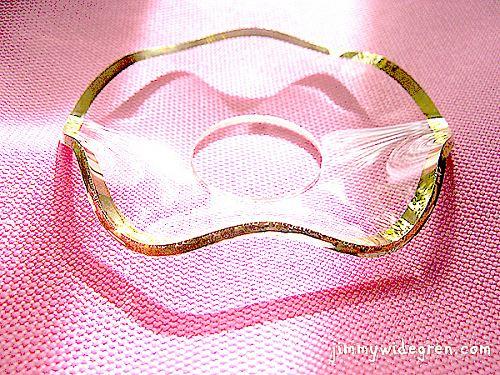 1041 Glasmanschett, guldkant