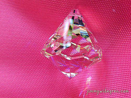 Centrumkristall 40mm hög x 30mm