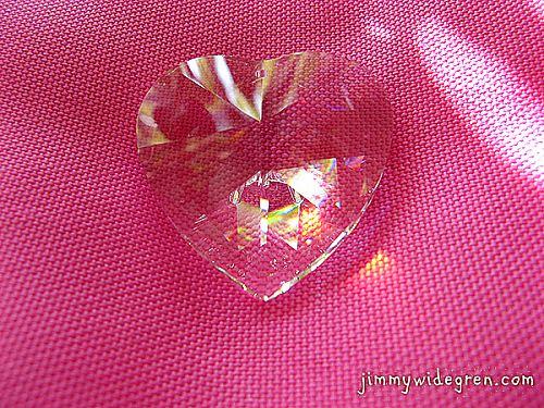 Hjärtformad prisma
