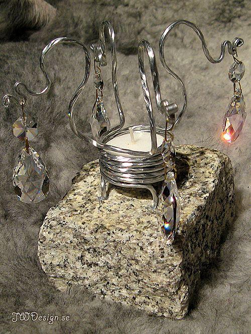 Handgjord ljuslykta med prismor