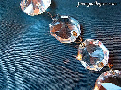 Gamla kristaller till kristallkronor
