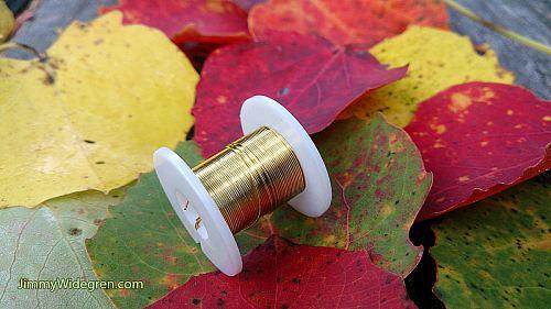 Färgad Koppartråd, guld 0,3 mm x 4 m