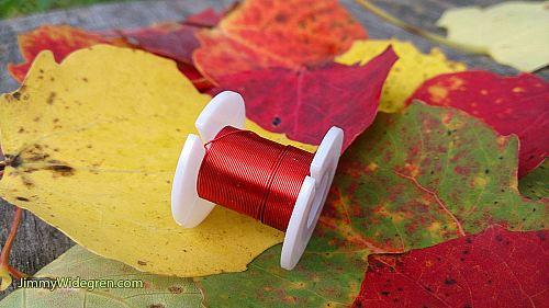 Färgad Koppartråd, röd 0,3 mm x 4 m