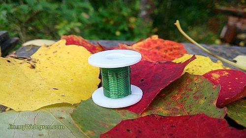 Färgad Koppartråd, grön 0,3 mm x 4 m