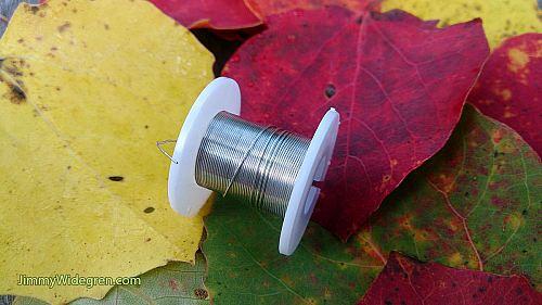 Färgad Koppartråd, silver 0,3 mm x 4 m