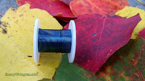 Färgad Koppartråd, blå 0,3 mm x 4 m