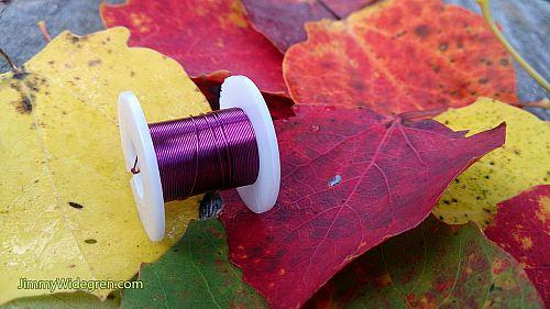 Färgad Koppartråd, lila 0,3 mm x 4 m