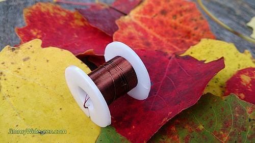 Färgad Koppartråd, brun 0,3 mm x 4 m