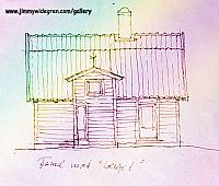 Fasad 1 ritning av arkitekt
