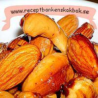 Honung och chilli rostade nötter