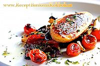 Vegetariska Fileer med ugnsrostade gronsaker