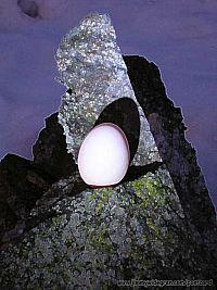 ägg på sten