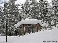 växthus under snö